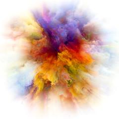 Fototapeta premium Eksplozja rozbryzgów farby