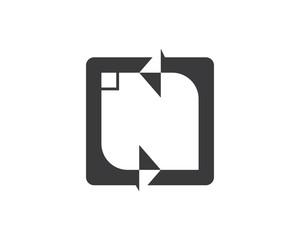 n letter logo icon illustration vector