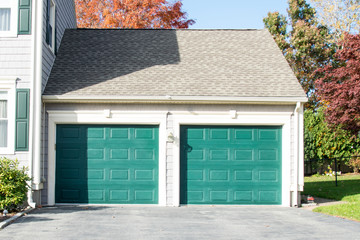 picture of Two Door Garage in a single American house