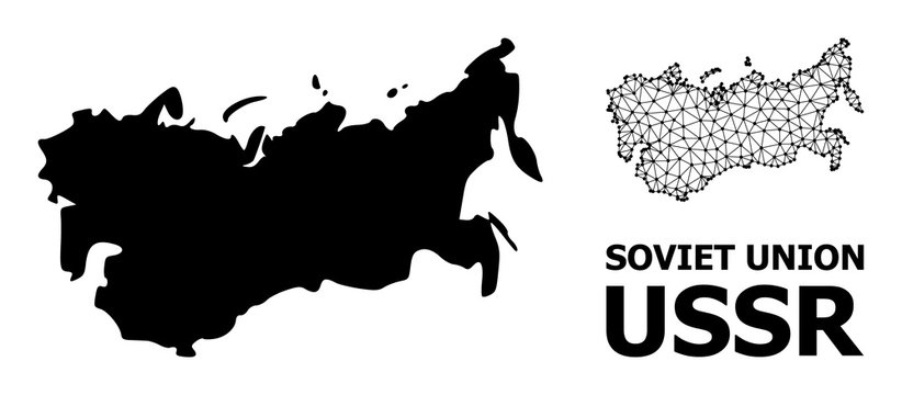Solid and Carcass Map of USSR
