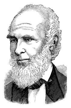 John Greenleaf Whittier, vintage illustration