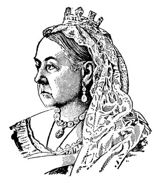 Queen Victoria of England vintage illustration.