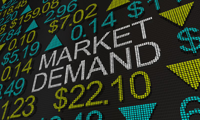 Market Demand Stock Prices Investment Shares Ticker 3d Illustration