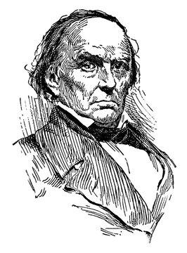 Daniel Webster, vintage illustration
