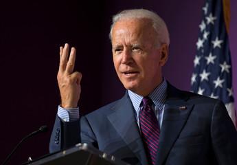 Democratic presidential candidate and former Vice President Joe Biden speaks in Columbia