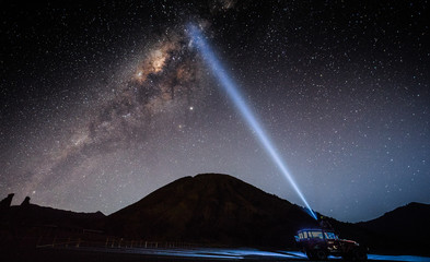 The Milky Way shooting requires a lens with a large aperture. Has a very wide range of lenses And have to shoot in a completely dark place And will get beautiful images of stars And may see the nebula