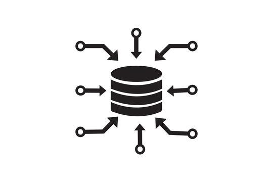 data aggregation icon simple element illustration