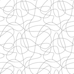 Curls hand drawn seamless pattern