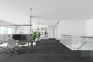Obraz White and glass office interior - fototapety do salonu