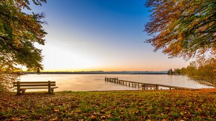 Fotorollo Wasserlilien Starnberger See