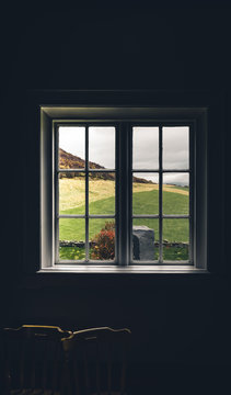 Iceland though a house window