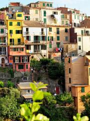Campiglia Tramonti - Cinque Terre: typical centuries-old seaside village on the rugged Italian Riviera coastline