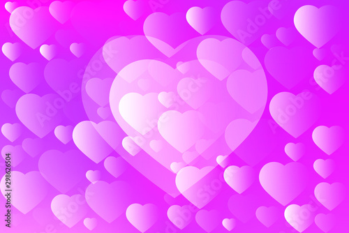 Abstract Romantic Heart Background With Pretty Colors