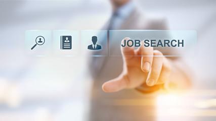 Job search hiring recruitment send CV resume business concept. - fototapety na wymiar