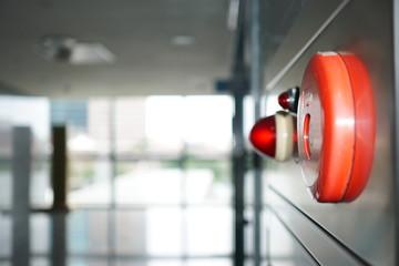Alarm bells ,warning lights or Extinguisher  for avoiding fire. Image about fire, danger, safety.