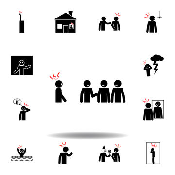 social phobia, fear icon on white background. Can be used for web, logo, mobile app, UI, UX