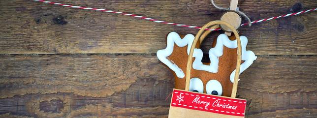 Lebkuchen Elch Weihnachten
