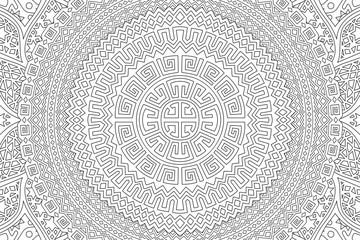 Tribal art for coloring book with abstract pattern