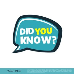 Did You Know? Letter Vector Template Illustration Design. Vector EPS 10.
