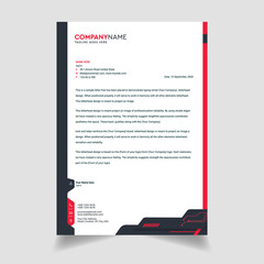 Business style letterhead template design