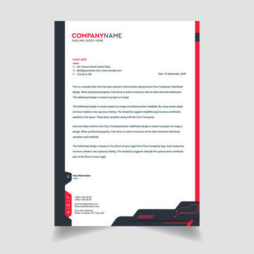 Business style letterhead template design