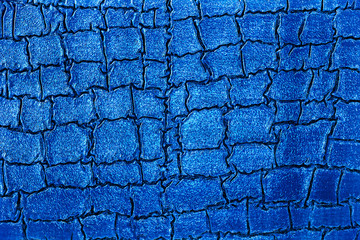 Wall Mural - Close up texture of blue alligator skin. Crocodile background.
