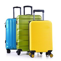 Fototapeta Travel suitcases isolated on white background obraz