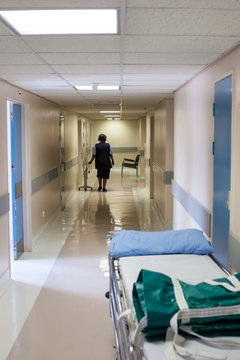 Nurse on the hospital hallway