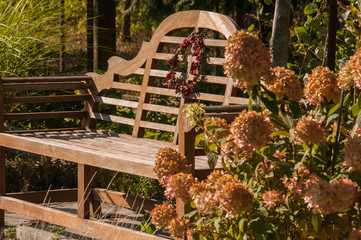 Fototapeta Miejsce odpoczynku i relaksu w ogrodzie obraz