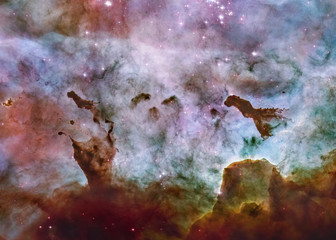 Fond de hotte en verre imprimé Univers Somewhere in deep space. Carina Nebula star birth. Science fiction wallpaper. Elements of this image were furnished by NASA.