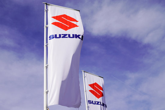 suzuki sign flag shop car logo dealership store
