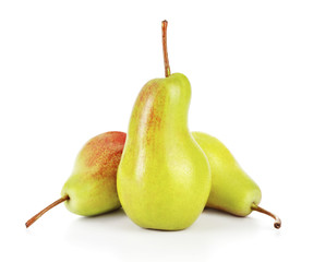 Wall Mural - pears isolated on white background