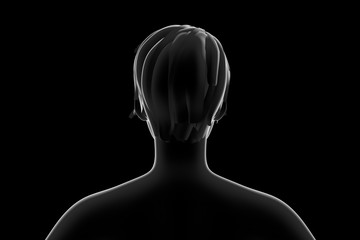 Silhouette of women from back