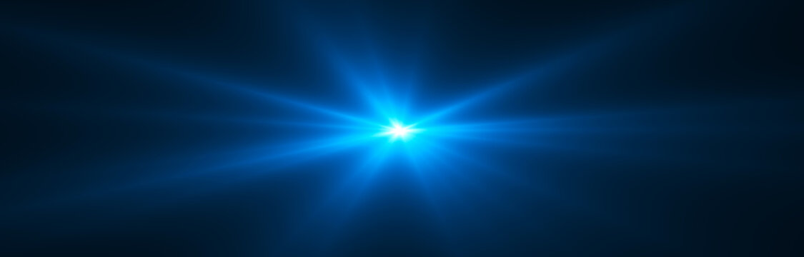 Glowing light effect. Starburst. Beautiful abstract rays background.