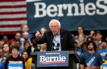 Democratic 2020 U.S. presidential candidate Senator Bernie Sanders holds a campaign rally in Detroit,