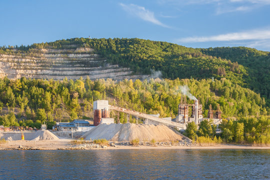 Limestone mining, Russia