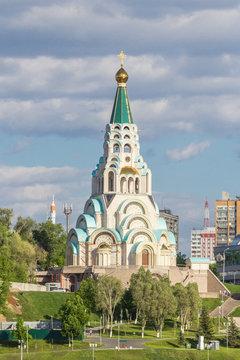 Cathedral in honor of Hagia Sophia on the Volga embankment in Samara, Russia