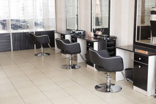 interior of a modern hairdressing salon