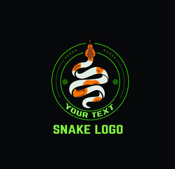 snake logo, community logo, reptile, vintage snake , snake vector, python logo