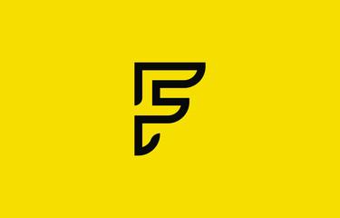 Initial based clean and minimal F Logo. F letter creative fonts monogram icon symbol. Universal elegant luxury alphabet vector design