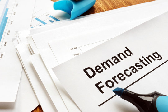 Demand forecasting report with charts and graphs.