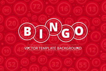Bingo lottery banner. Colored Vector stock illustration lottery game background.