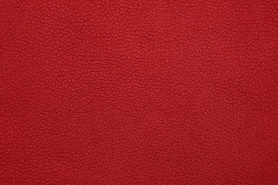 Background texture of red natural leather grain