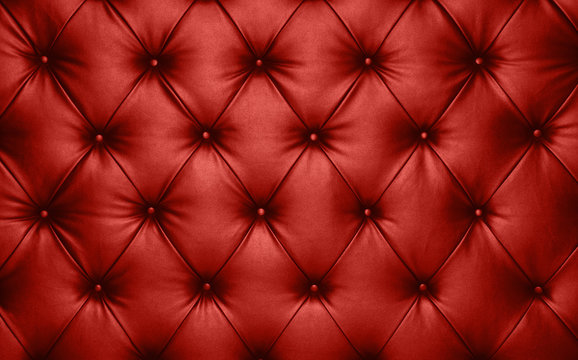 Red leather capitone background texture