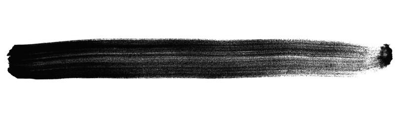 Schwarzer isolierter handgemalter Streifen aus Tusche