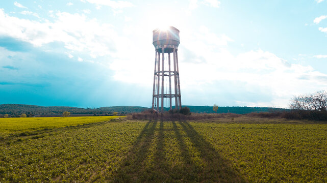 water tower and sky