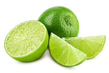 lime isolated on white background, clipping path, full depth of field Wall mural