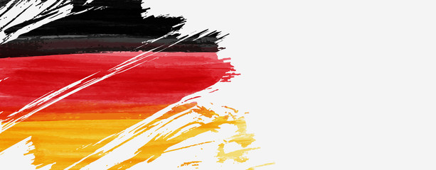 Banner with abstract flag of Germany Fotomurales