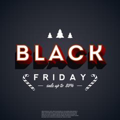 Black Friday. Retro banner