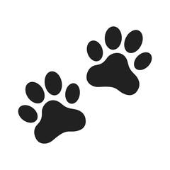 Animal paw prints icon. Flat style.